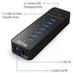 USB 3.0 Hub, HooToo 7 Port Hub with 2 Smart Charging Ports