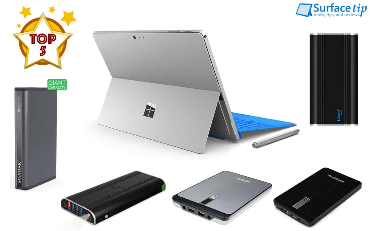 Best Surface Pro3 4 Book External Battery Packs Reviews In 2018 Kabel Power Adaptor Charger Laptop 3 Lubang