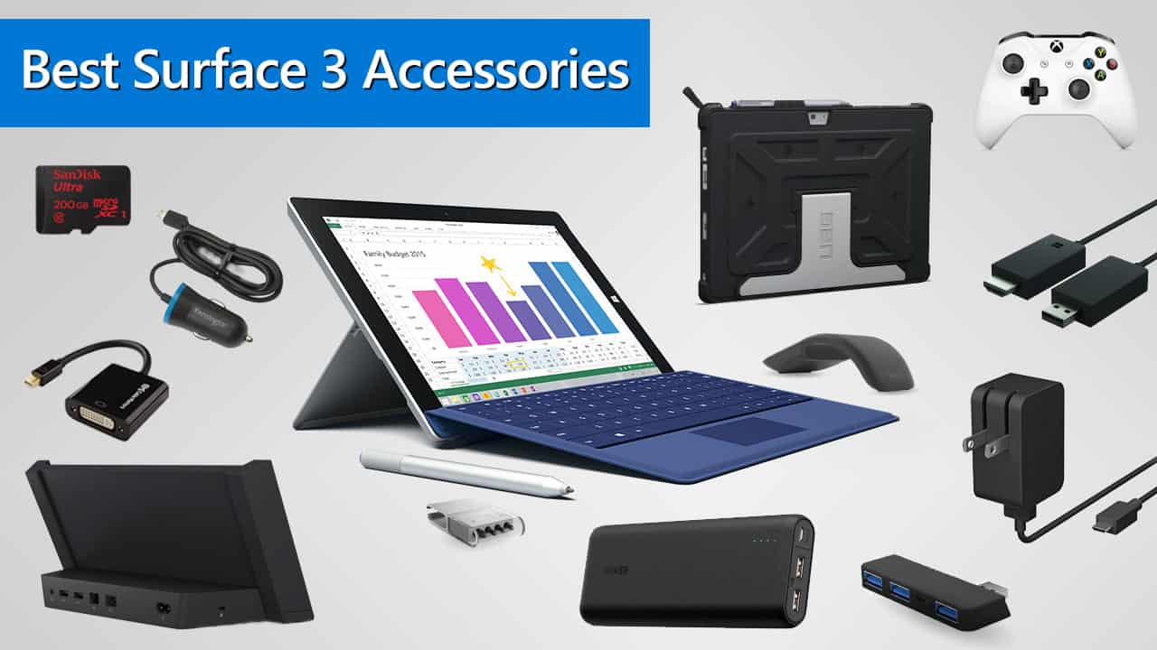 best microsoft surface 3 accessories in 2018. Black Bedroom Furniture Sets. Home Design Ideas