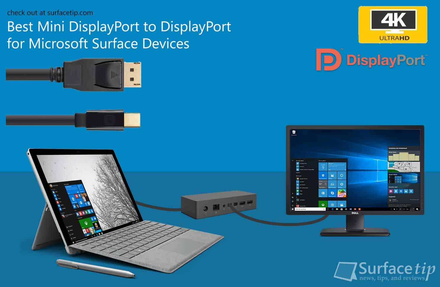 Best Mini DisplayPort to DisplayPort Cable for Microsoft ...