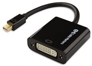 Cable Matters Active Mini DisplayPort to DVI Male to Female Adapter - Eyefinity Compatible