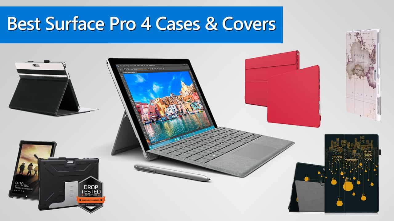 best microsoft surface pro 4 case and cover reviews in 2018. Black Bedroom Furniture Sets. Home Design Ideas