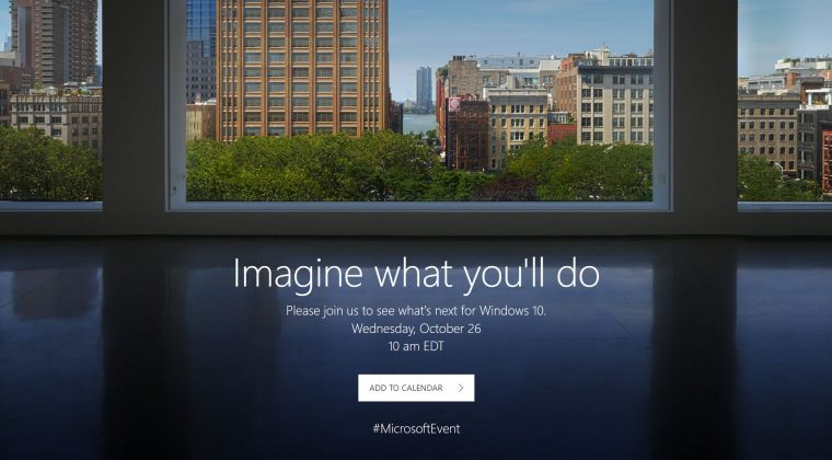 Microsoft Confirmed October 26 Windows 10 Event