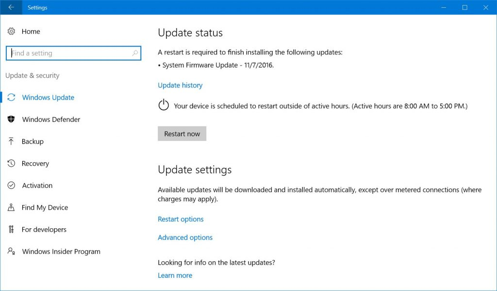 Surface Pro 3 11/7/2016 System Firmware Update
