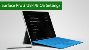 How to enter Surface Pro 3 UEFI/BIOS Settings
