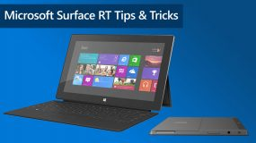 Surface RT Tips and Tricks