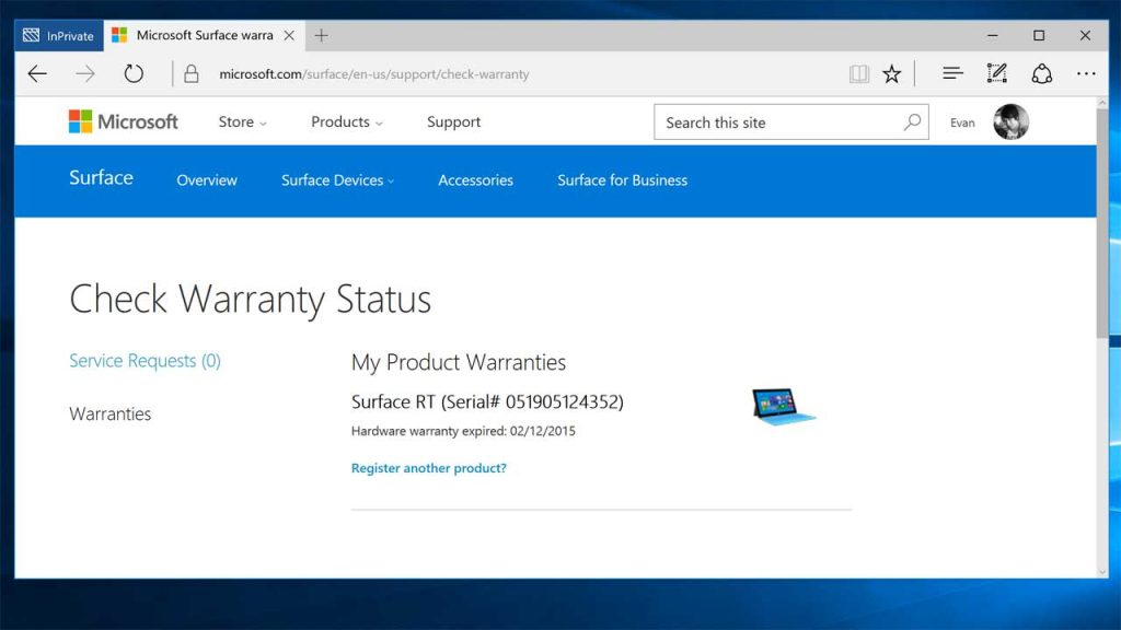 microsoft surface support number