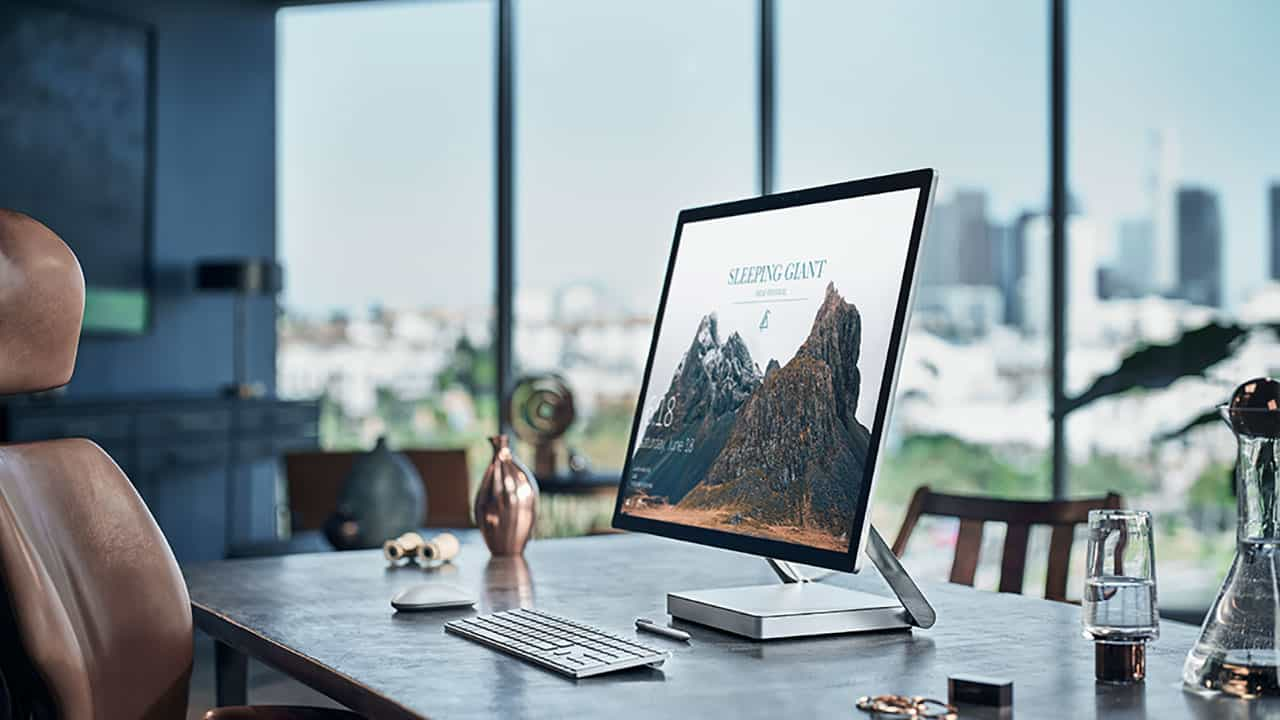 Surface Studio's Placed on a Table