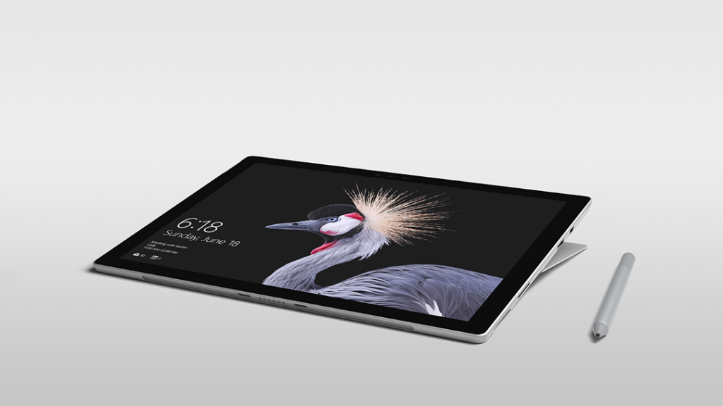 Microsoft's new Surface Pro with new Surface Pen in Studio Mode