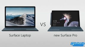 Surface Pro 2017 vs Surface Laptop Spec Comparison
