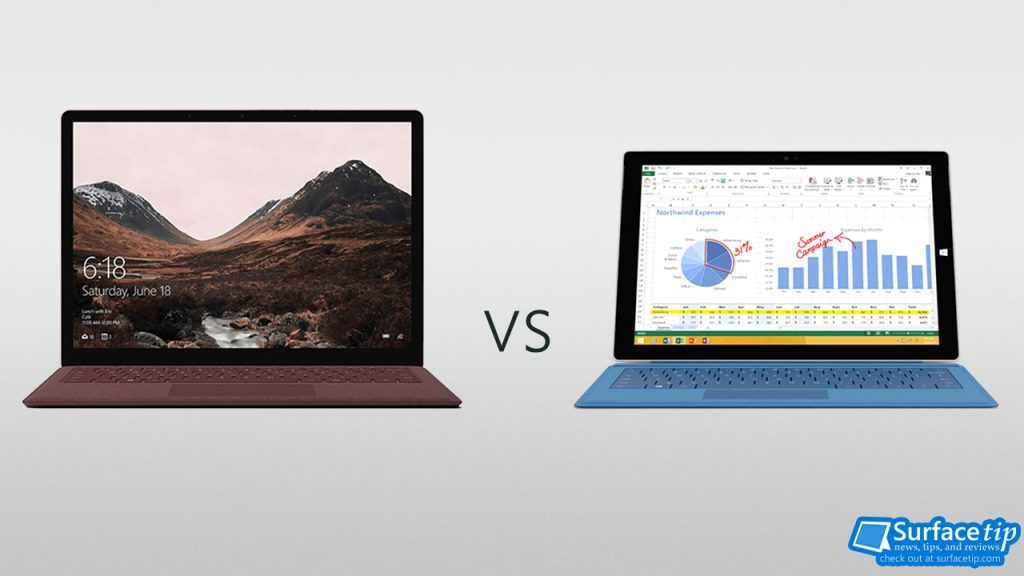 Surface Laptop vs Surface Pro 3