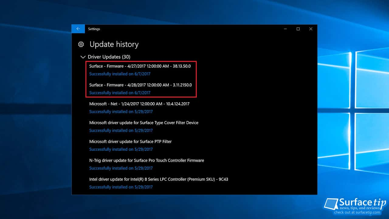 Surface Firmware Update