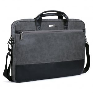 Evecase PU Leather Modern Business Tote Briefcase Messenger Case with Accessory Pockets
