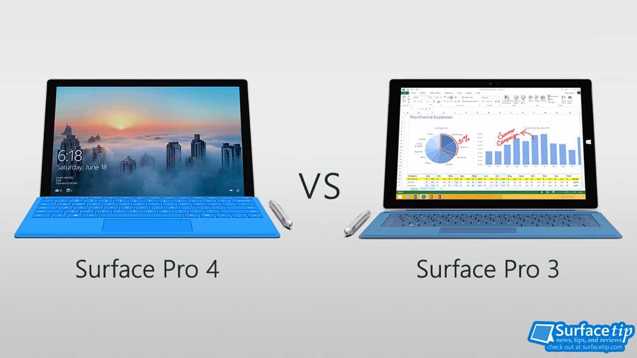 surface pro 4 vs surface pro 3