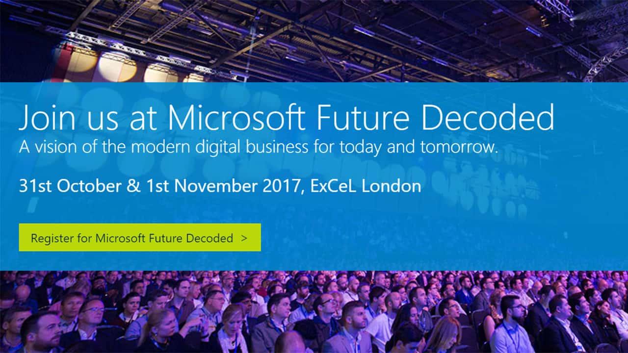 Microsoft Future Decoded 2017 Event