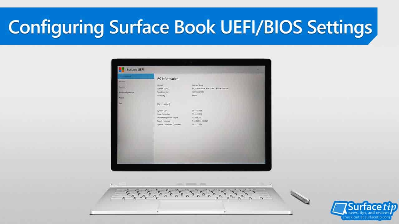 Configuring Surface Book Uefi Bios Settings Detailed Instructions