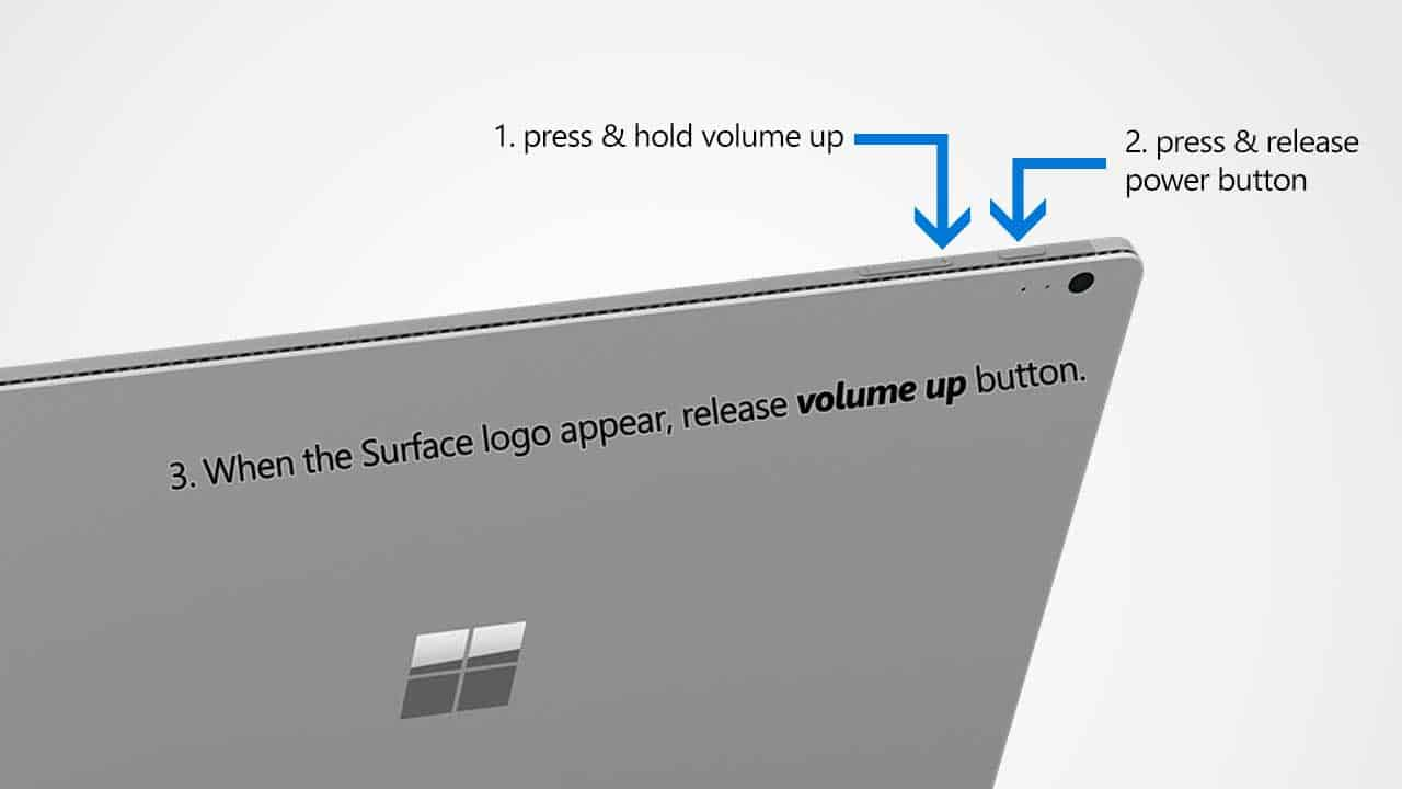 How to Enter Surface Book UEFI/BIOS Settings