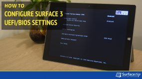 How to Configure Surface 3 UEFI/BIOS Settings