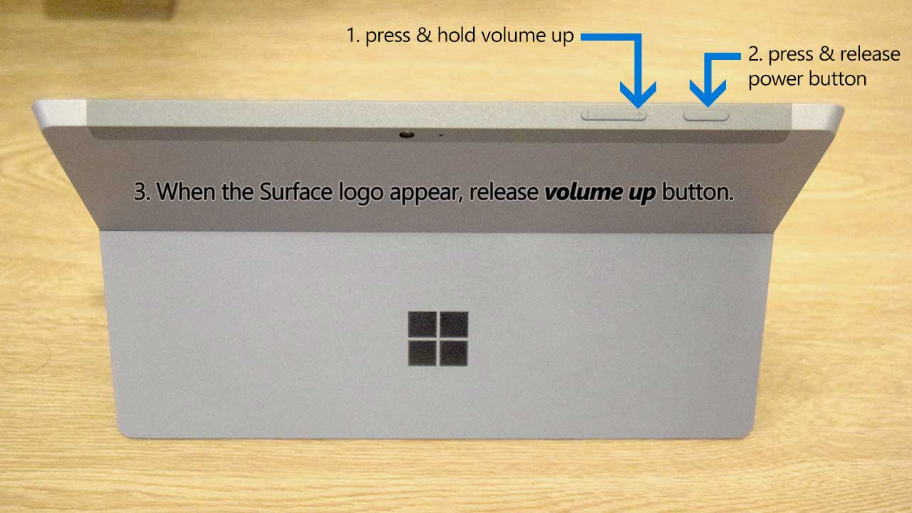 How to Enter Surface 3 UEFI Settings