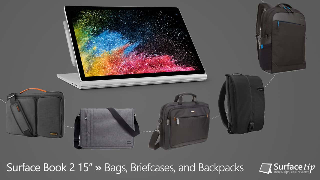 best bags for microsoft surface book 2 15 in 2018. Black Bedroom Furniture Sets. Home Design Ideas