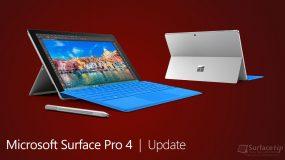 Microsoft Surface Pro 4 Update