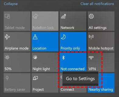 Opening Bluetooth Settings Page