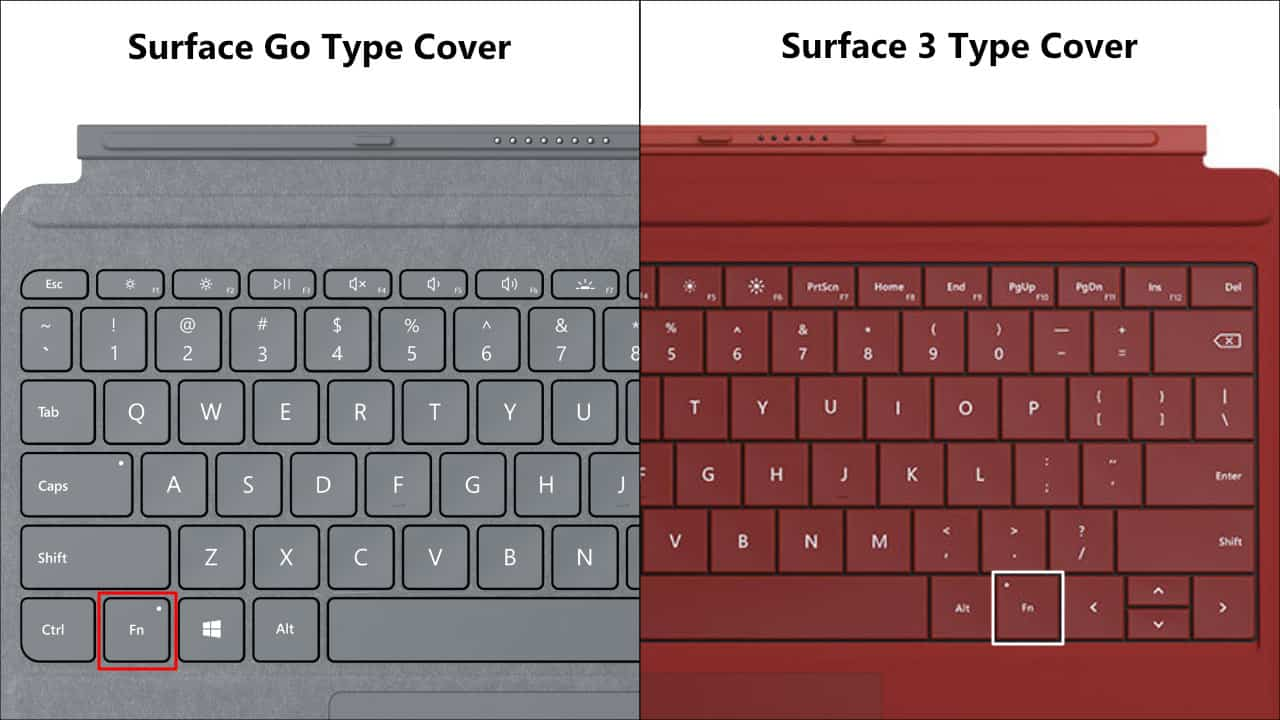 Surface Go vs. Surface 3 Type Cover 03
