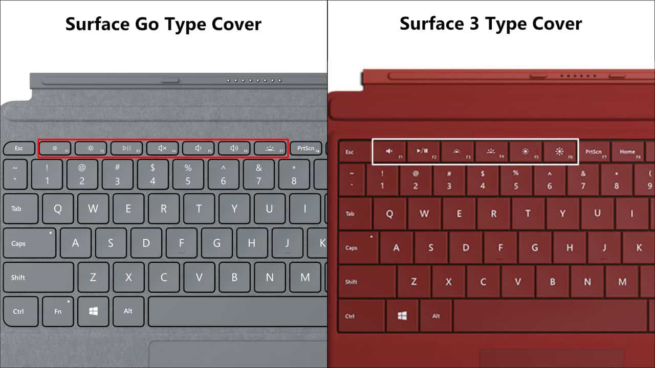 Surface Go vs. Surface 3 Type Cover 04