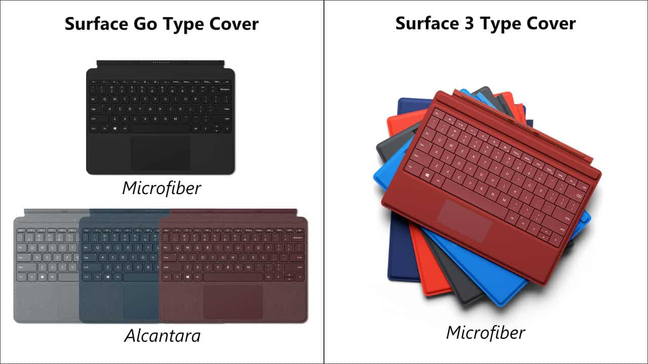 Surface Go vs. Surface 3 Type Cover 05