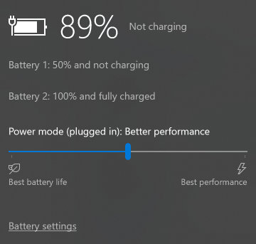 Battery Limit feature enabled on Surface Book
