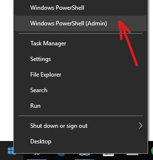 Open Windows PowerShell as Admin