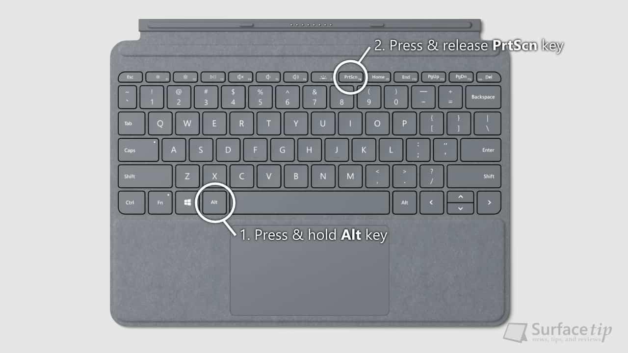 Surface Go Type Cover - Alt + PrtScn