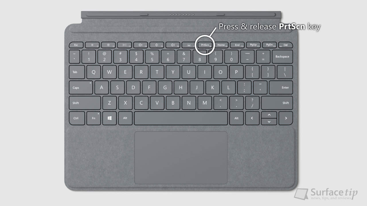 Surface Go Type Cover - PrtScn key