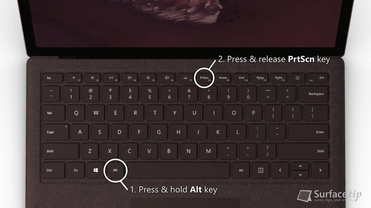 surface laptop 2 tip  how to screenshot on surface laptop 2