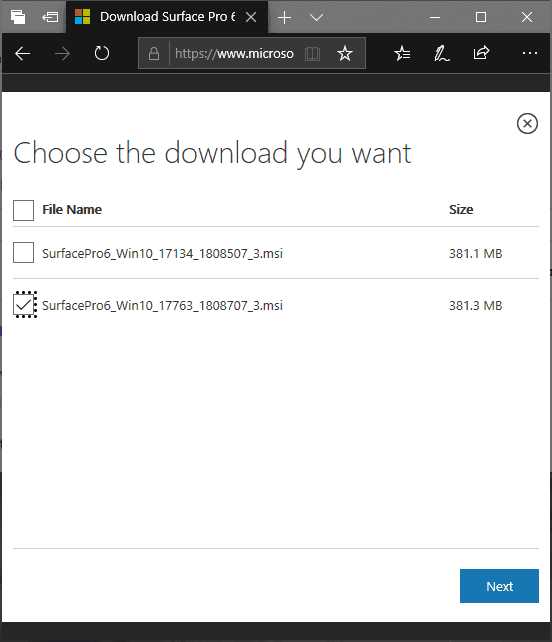 Surface Pro 6 Drivers and Firmware Download Options