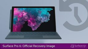 How to download the official Surface Pro 6 recovery image