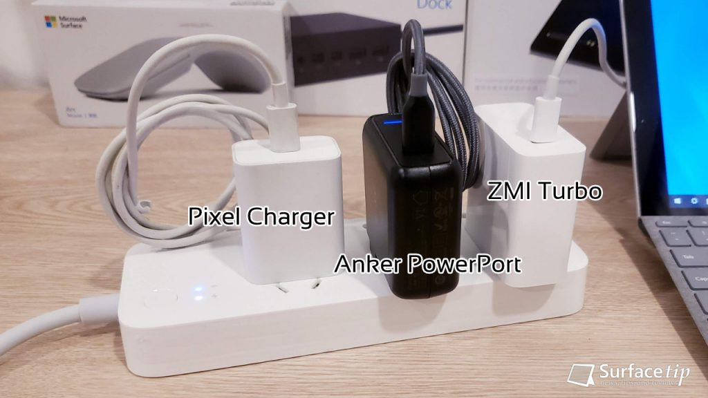 Pixel, Anker, and ZMI Charger