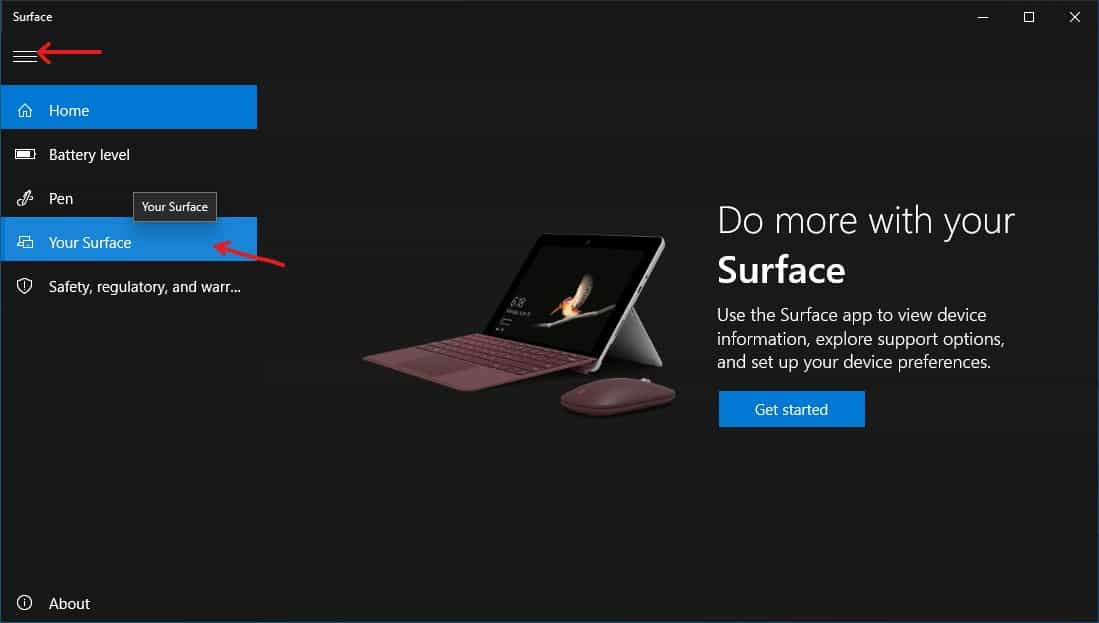 Open Your Surface from the Surface app