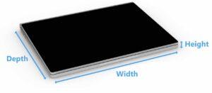 Surface Book Dimensions Measurement