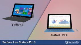 Surface 2 vs. Surface Pro 3