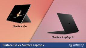 Surface Go vs. Surface Laptop 2 – Detailed Specs Comparison