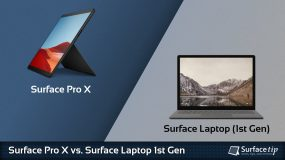 Surface Pro X vs. Surface Laptop 1