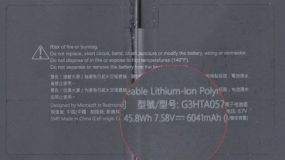 Surface Laptop 3 Battery