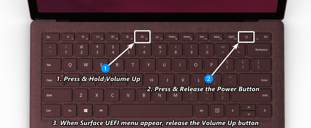 How to Enter Surface Laptop UEFI/BIOS Settings